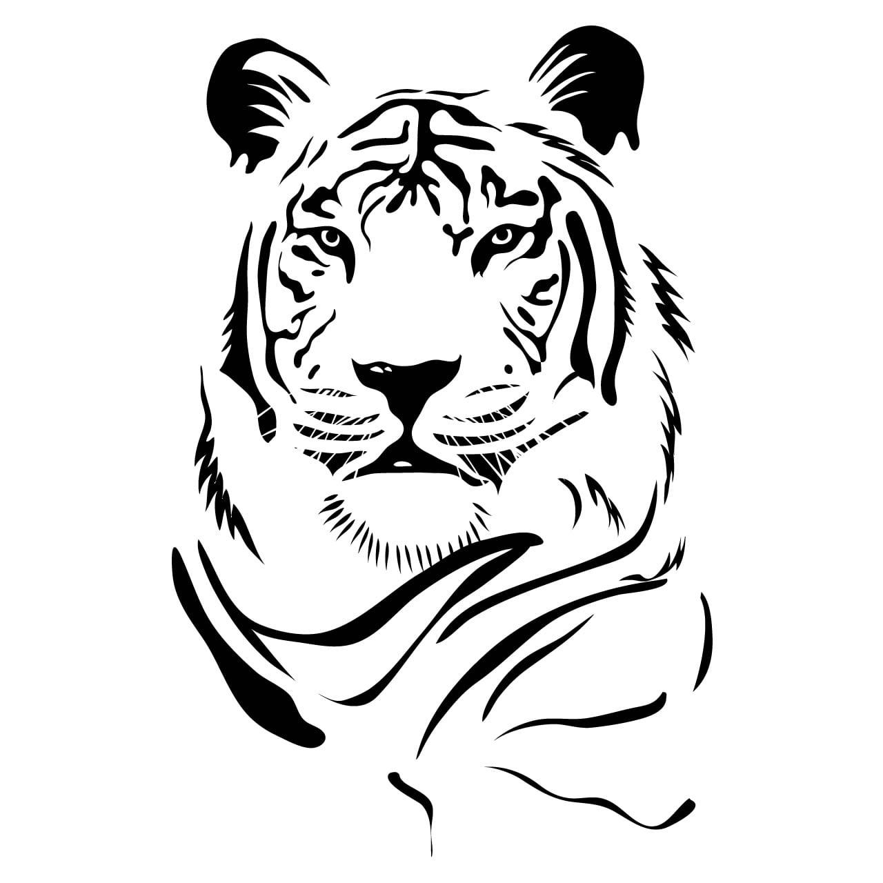 Tiger Head Animal Wall Sticker World Of Wall Stickers