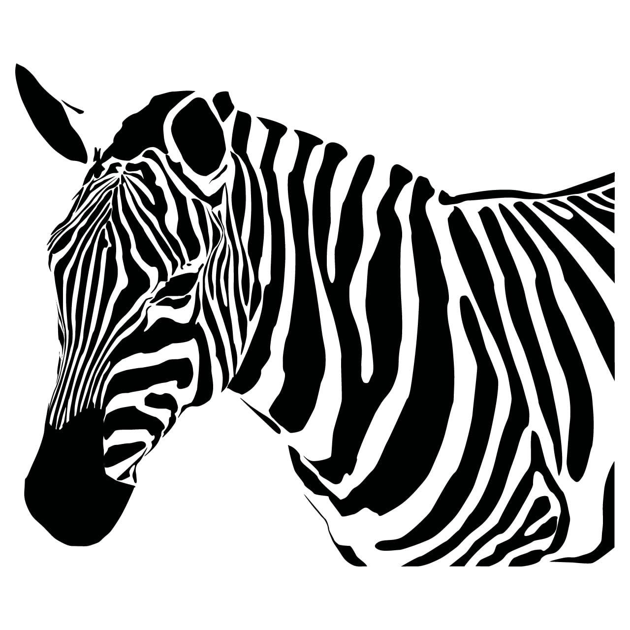 Wall stickers home wall stickers animal wall stickers giraffe wall - Tribal Zebra Viewing Gallery