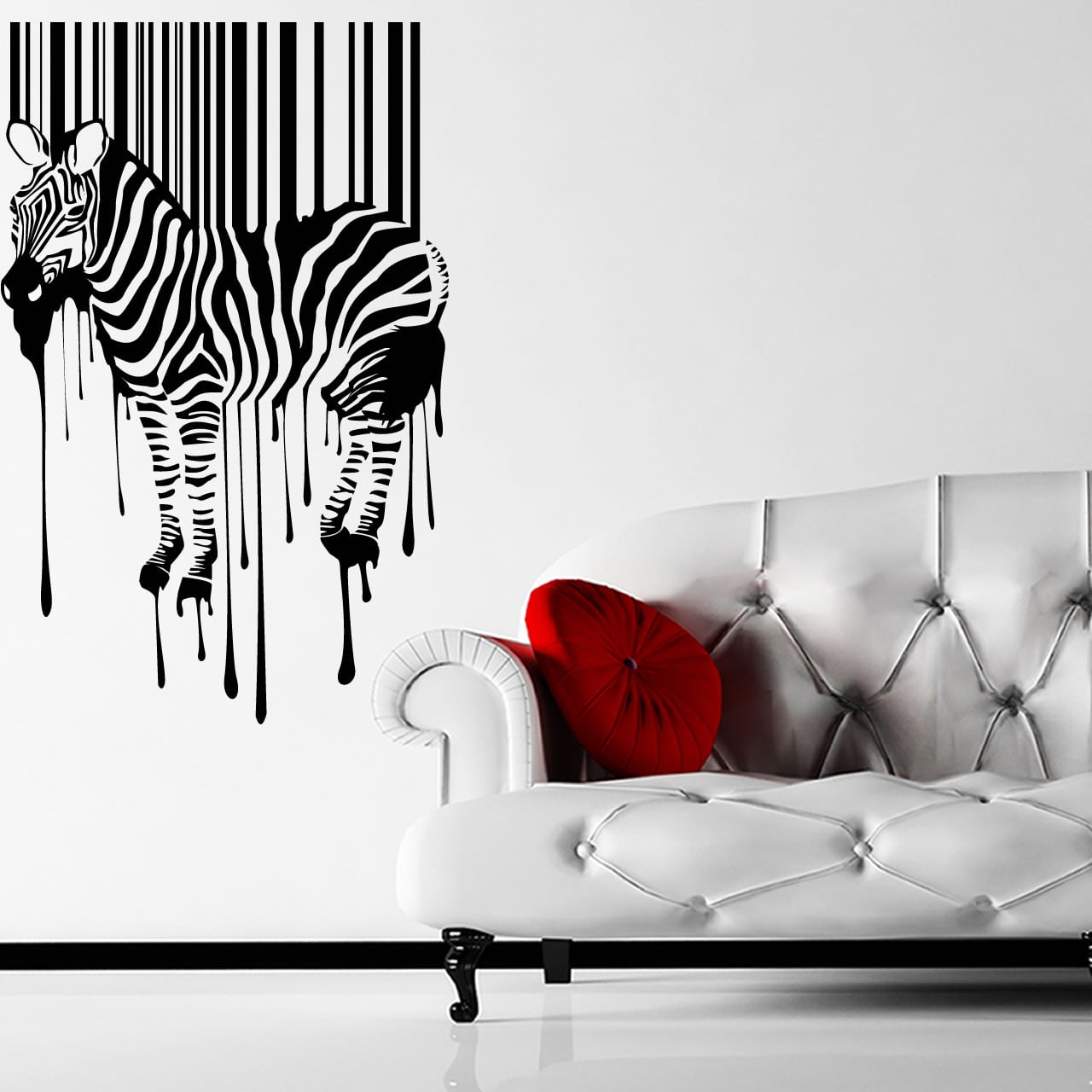 zebra barcode animal wall sticker world of wall stickers zebra wall decals by couture deco