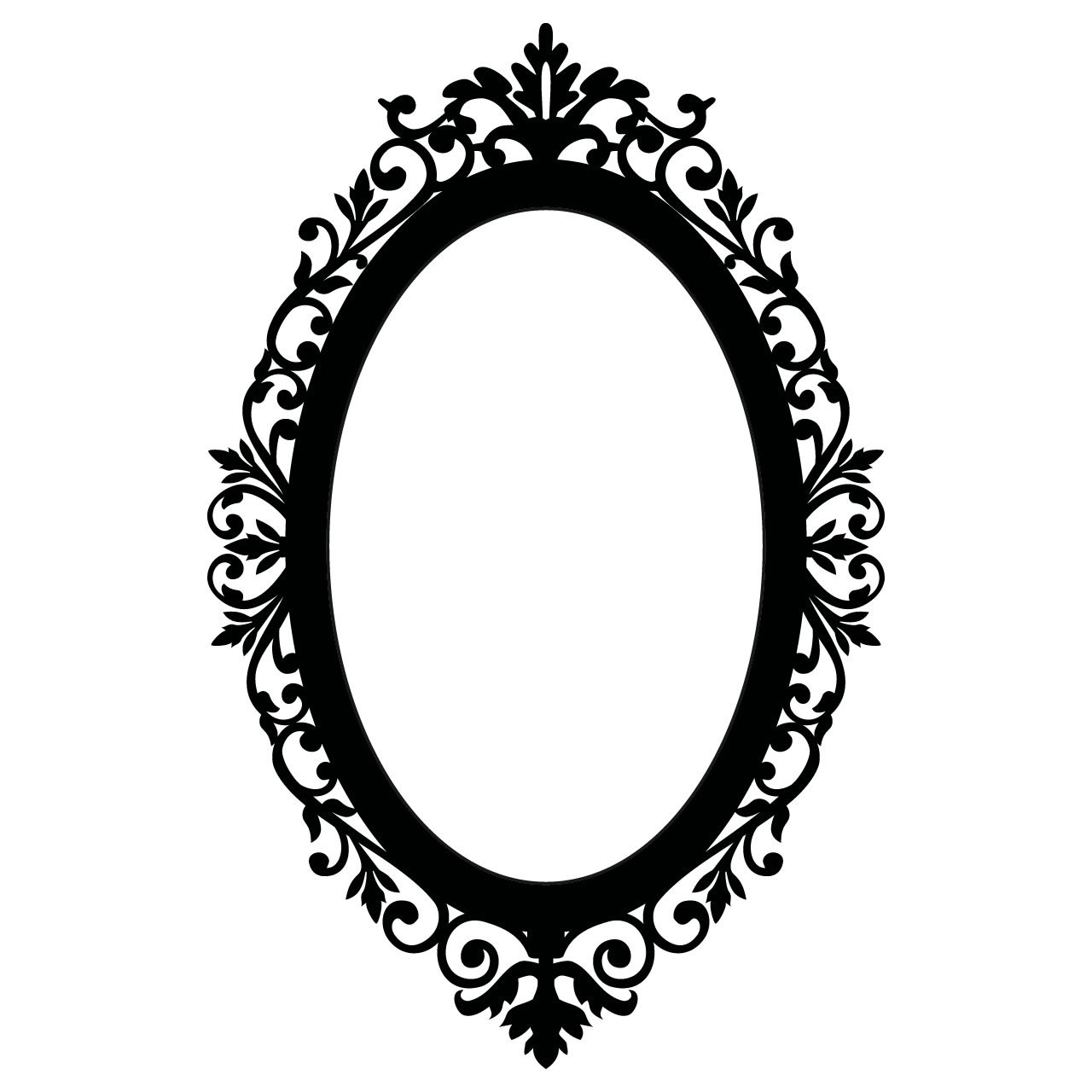 Ornate Oval Frame Vintage Wall Sticker - World of Wall ...