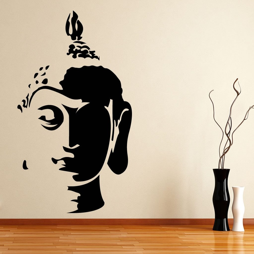 buddha head wall sticker world of wall stickers wall stickers dubai reviews online shopping wall