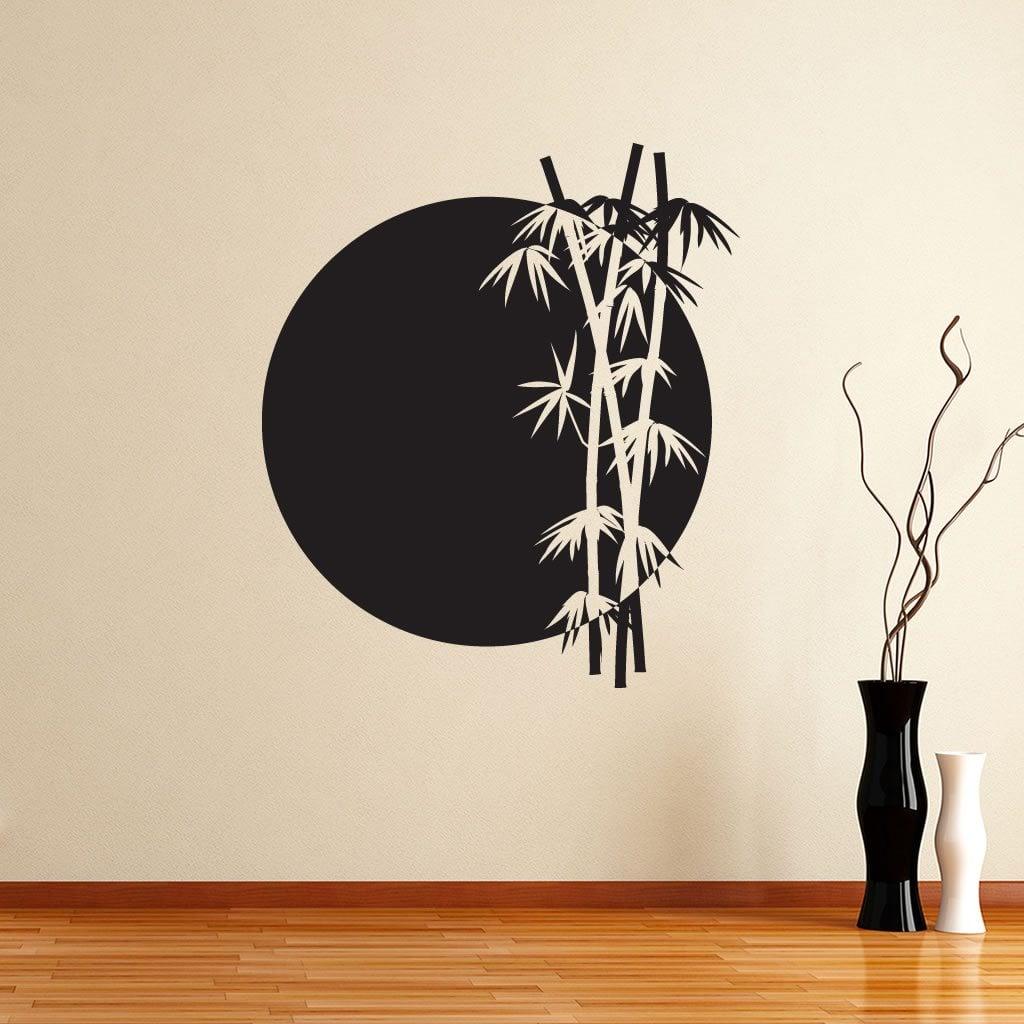 bamboo sun japanese chinese wall sticker world of wall