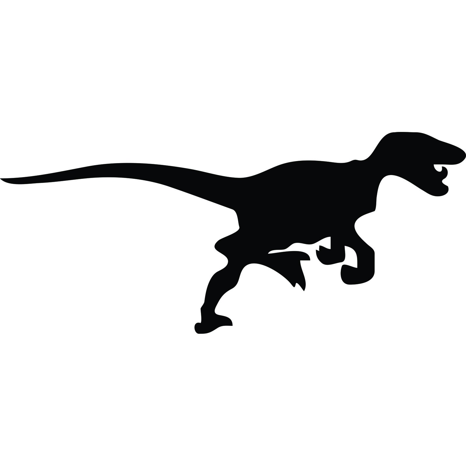 Velociraptor Dinosaur Silhouette Wall Sticker World Of